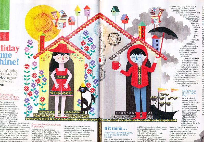 Time Out London - Lesley Barnes Illustration