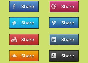 Social-share-psd-buttons